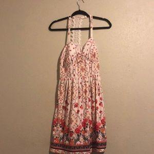 Rose print dress NWOT